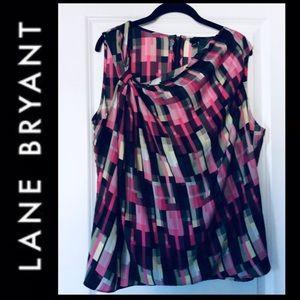 LANE BRYANT 6th&Ln Geo Print Blouse